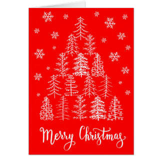 Carte de voeux de Joyeux Noël tirée par la main