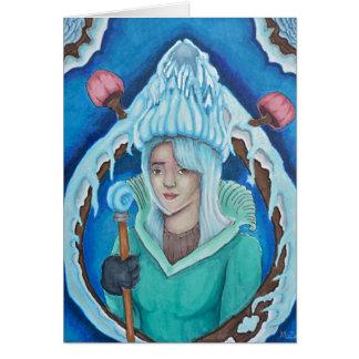 Carte de voeux de la Reine de forêt de glace