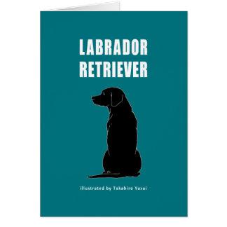 Carte de voeux de labrador retriever
