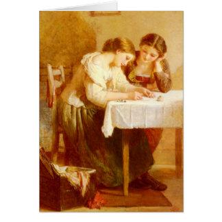 Carte de voeux de Le Jeune de lettre d'amour
