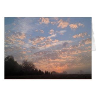 Carte de voeux de lever de soleil