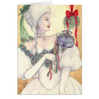 """Carte de voeux """"de masque de Noël"""""""