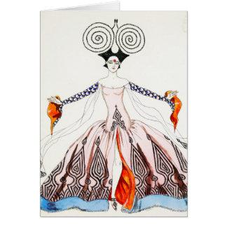 Carte de voeux de mode d'art déco de Georges