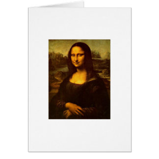 Carte de voeux de Mona Lisa de DaVinci