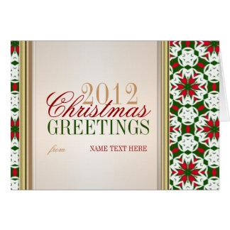 Carte de voeux de motif de couleurs de Noël de
