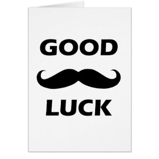 """Carte de voeux de moustache de """"bonne chance"""""""
