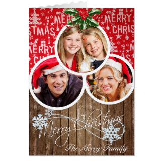 Carte de voeux de Noël avec vos photos