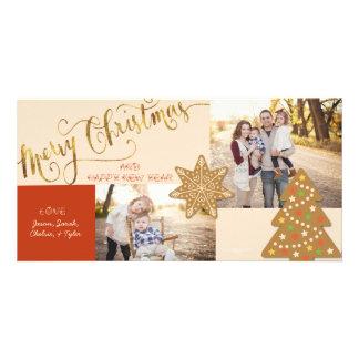 carte de voeux de Noël de Biscuit-coupeur Photocartes Personnalisées
