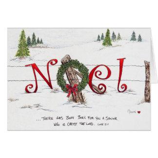 Carte de voeux de Noël de Noel (blanc à