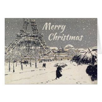 Carte de voeux de Noël de Paris