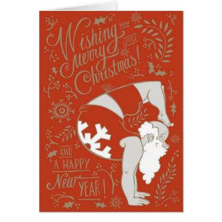 Carte de voeux de Noël de Père Noël de yoga