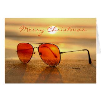 Carte de voeux de Noël de plage d'été
