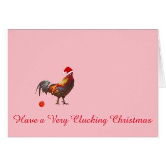Carte de voeux de Noël de poulet