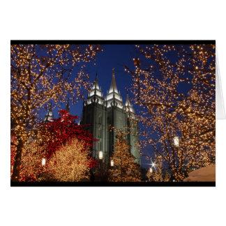 Carte de voeux de Noël de temple de Salt Lake