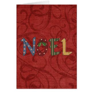 Carte de voeux de Noel de thème de Noël