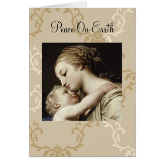 Carte de voeux de Noël Mary et enfant