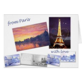 CARTE DE VOEUX DE PAYSAGE DE PARIS