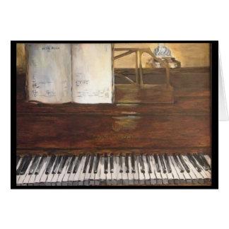 Carte de voeux de peinture de piano par