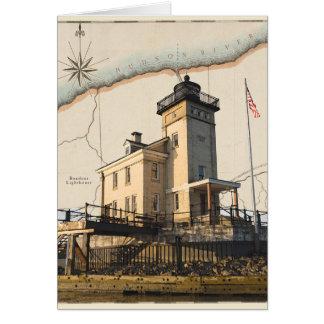 Carte de voeux de phare, le Rondout