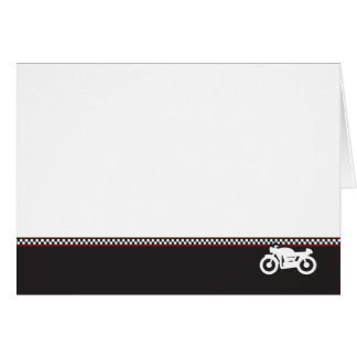 Carte de voeux de photo de coureur de café de moto