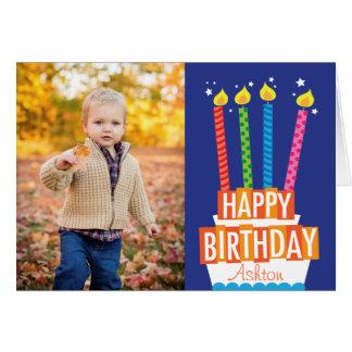 Carte de voeux de photo de gâteau d'anniversaire