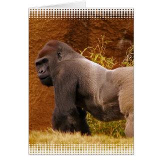 Carte de voeux de photo de gorille de Silverback