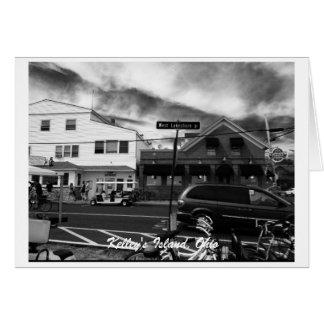 Carte de voeux de photo de rue de l'île de Kelley,