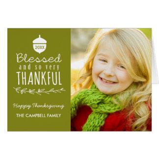 Carte de voeux de photo de thanksgiving/olive