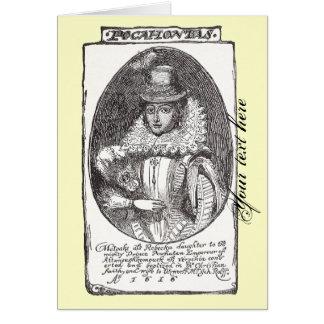 Carte de voeux de Pocahontas