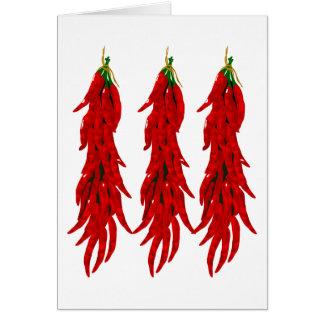 Carte de voeux de poivrons de piment rouge