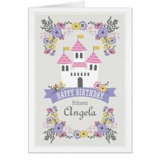 Carte de voeux de princesse de joyeux anniversaire