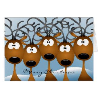 Carte de voeux de renne de Noël