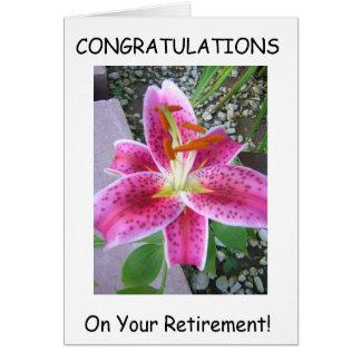 Carte de voeux de retraite
