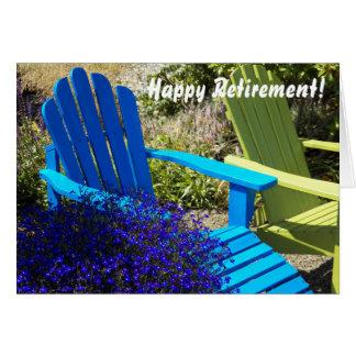 Carte de voeux de retraite de photo de Lawnchairs