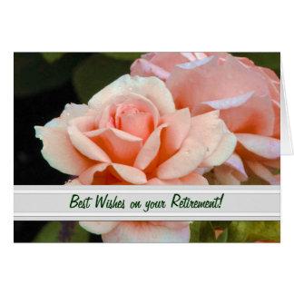 Carte de voeux de retraite de rose de thé