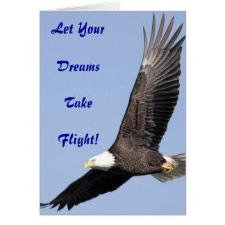 Carte de voeux de rêves d'Eagle