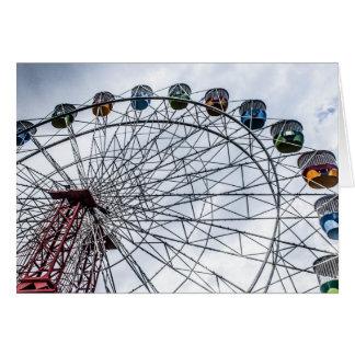 Carte de voeux de roue de Ferris