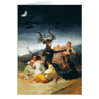 Carte de voeux de sabbath de Goya