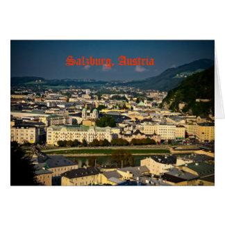 Carte de voeux de Salzbourg, Autriche