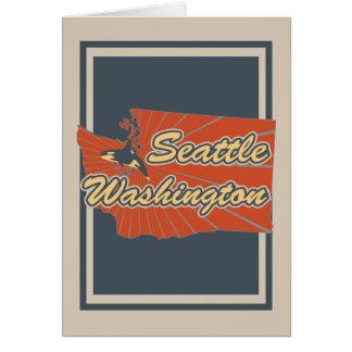 Carte de voeux de Seattle, Washington - copie de