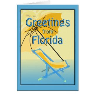 Carte de voeux de soleil de la Floride