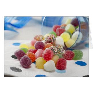 Carte de voeux de sucreries de gelée