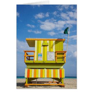 Carte de voeux de support de garde de vie de Miami