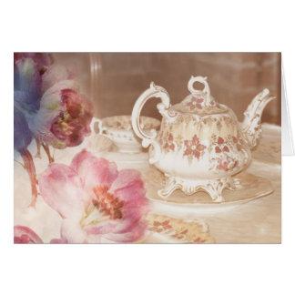 Carte de voeux de temps de thé
