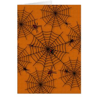 Carte de voeux de toile d'araignée