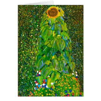 Carte de voeux de tournesol de Gustav Klimt