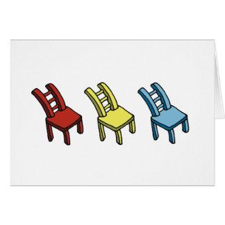 Carte de voeux de trois chaises