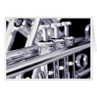 Carte de voeux de trompette