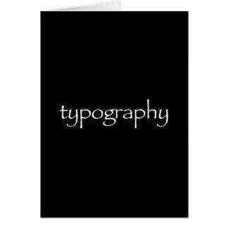 Carte de voeux de typographie (oeil d'un caractère