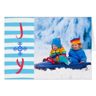 Carte Carte de voeux de vacances de Noël de la joie | de